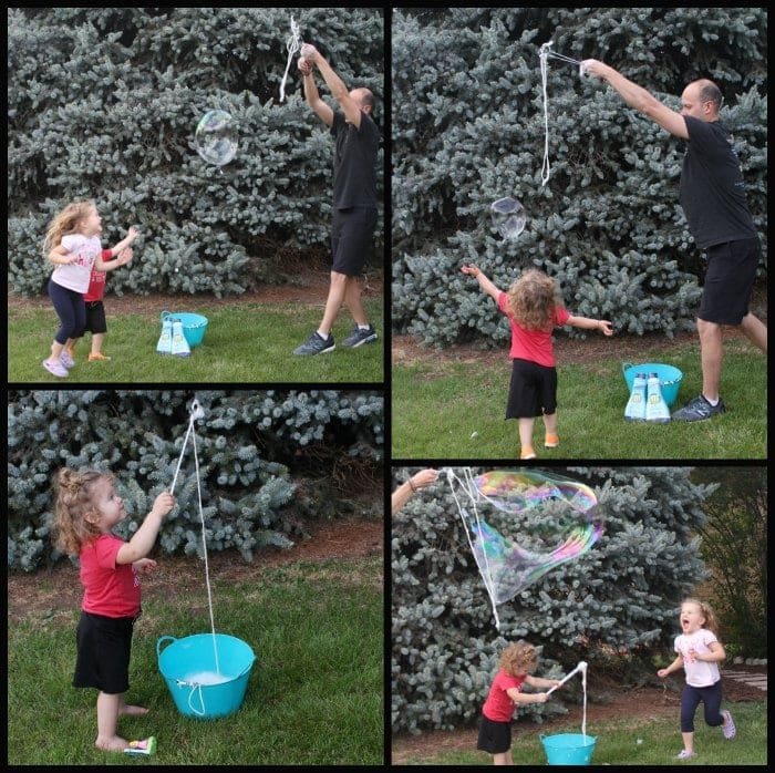 giant bubbles for hours of cheap summer entertainment
