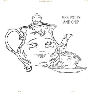 Beauty and the Beast Coloring Sheets {Free Printables}