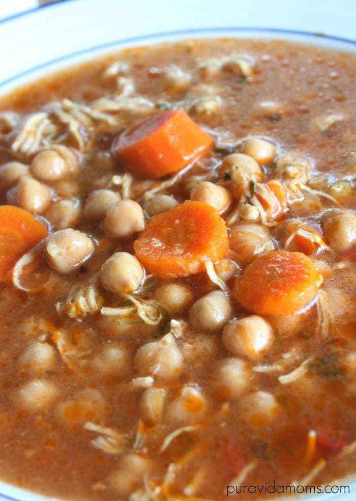 chickpea and chicken soup recipe for the instant pot