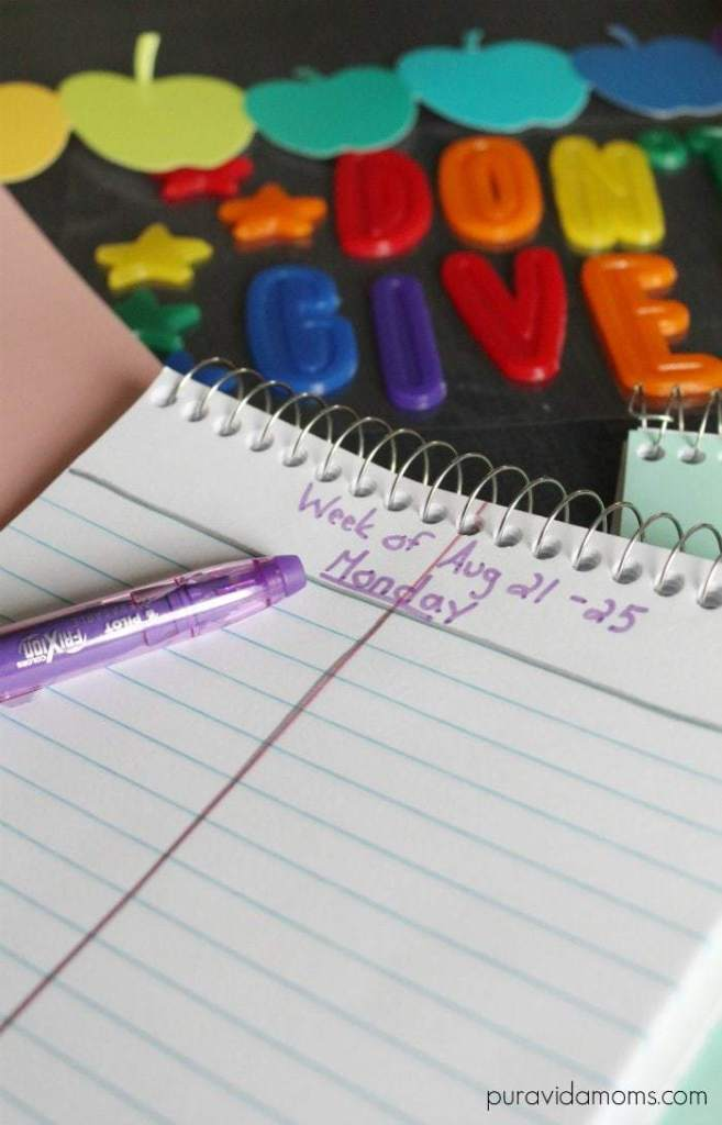 diy student planner for less than a dollar