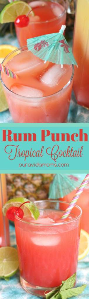 rum punch tropical cocktail recipe