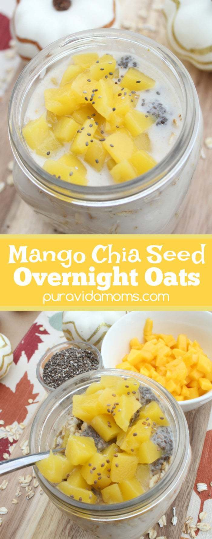 Mango Chia Seed Overnight Oats Recipe