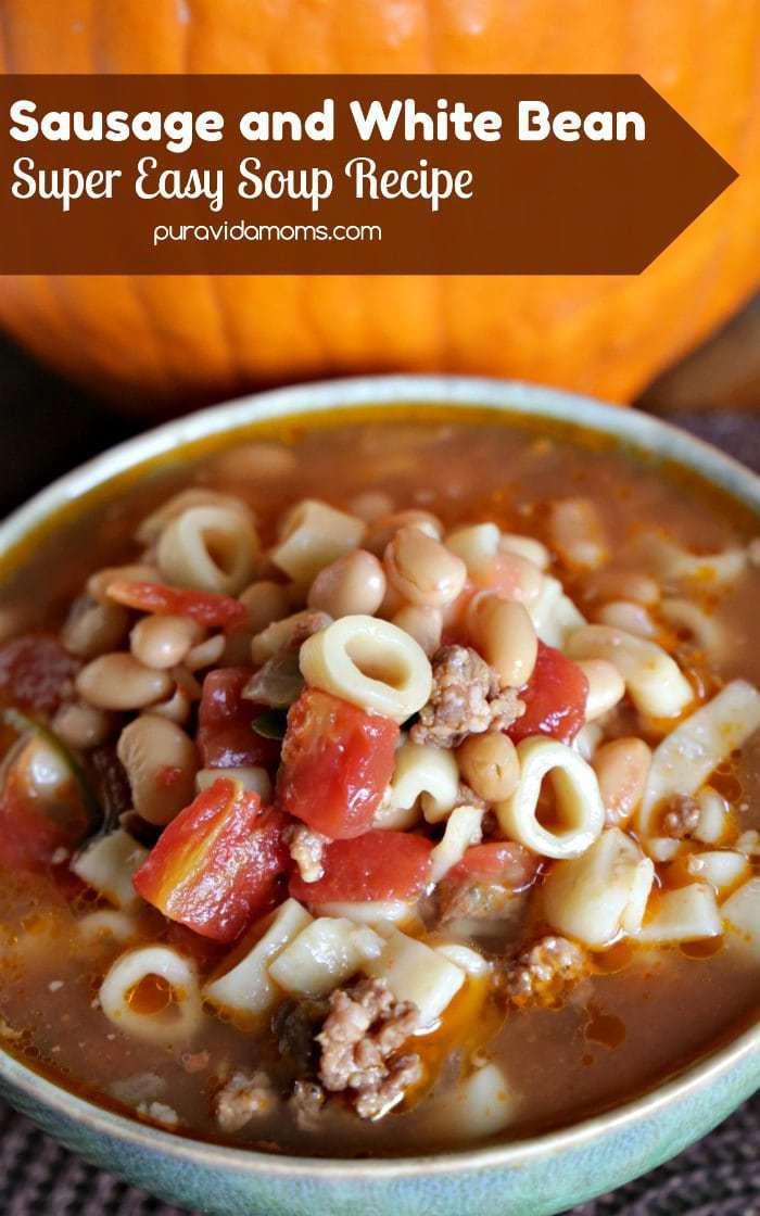 This delicious sweet Italian sausage and white bean soup recipe has a rich flavor thanks to the addition of tomatoes and fresh spinach added at the very end. The perfect fall recipe, it can be made stovetop, slow cooker, pressure cooker or Instant Pot!