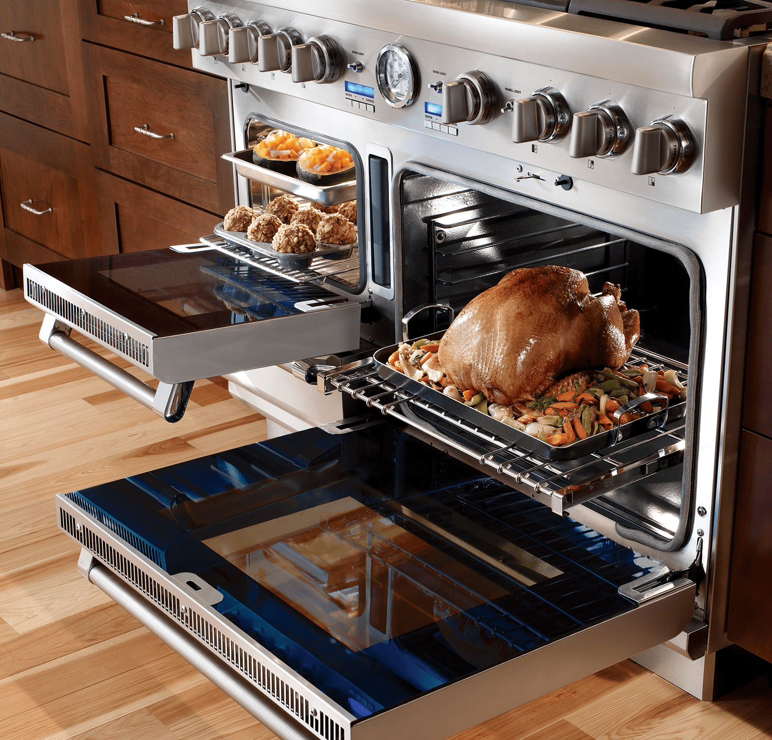 cooking with a bertazzoni speed oven