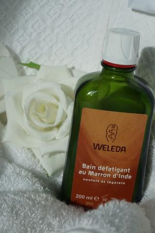 weleda bain defatigant au maron d'Inde