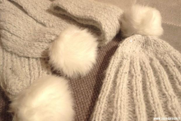 kit chic phildar gris perle bonnet et écharpe