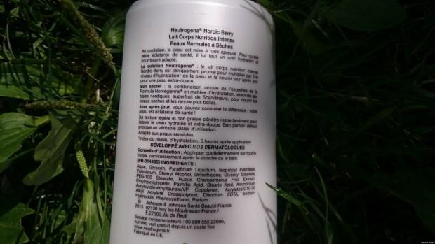 neutrogena nordic berry composition lait