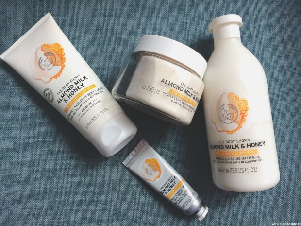 the body shop lait d'amande et miel (2)