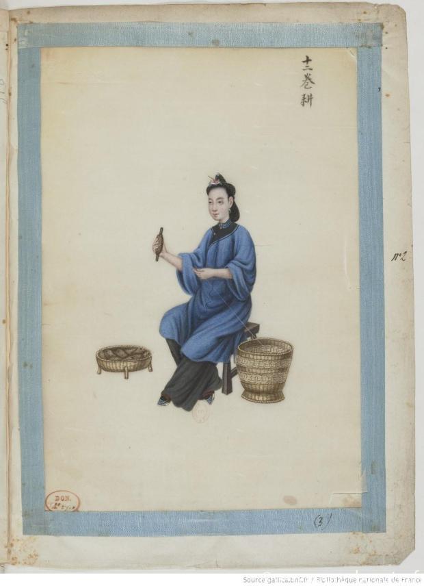 [Fabrication et tissage de la soie] : [peinture] / Yoeequa Painter Yoeequa (18..?-18..).