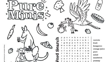 Pure Minis Activity Sheet