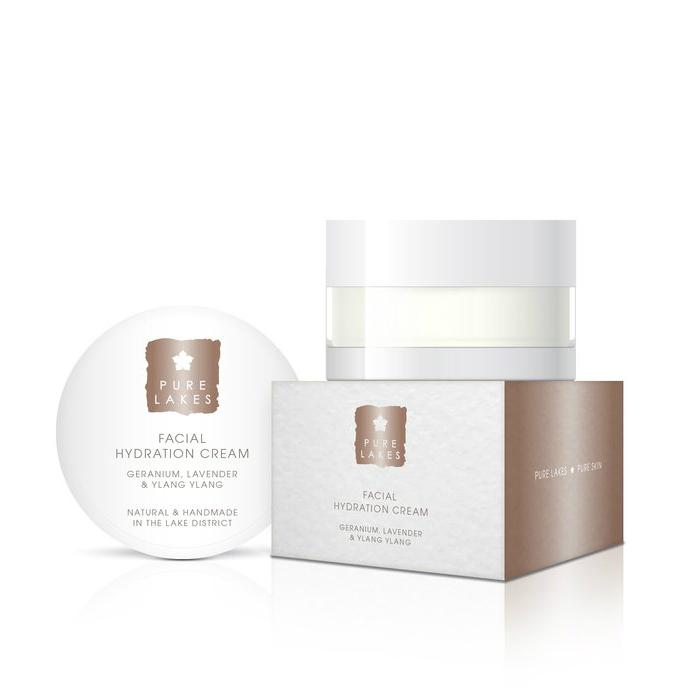 Pure Lakes Geranium, Lavender & Ylang Ylang Facial Hydration Cream