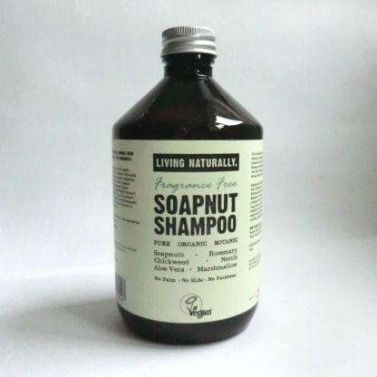 Living Naturally Fragrance Free Soapnut Shampoo