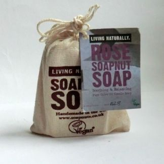 Living Naturally Rose Castile Olive Oil Soapnut Soap