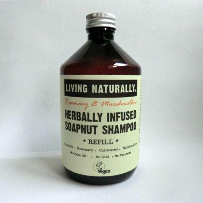 Living Naturally Rosemary & Marshmallow Soapnut Shampoo