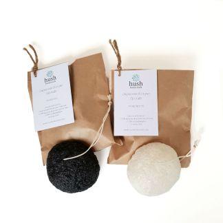 Hush Botanicals Pure White & Charcoal Konjac Sponge