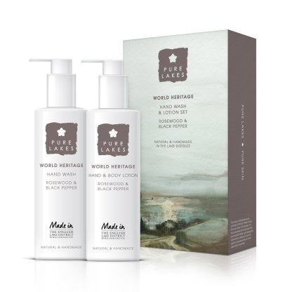 Pure Lakes Rosewood and Black Pepper Hand Wash and Lotion