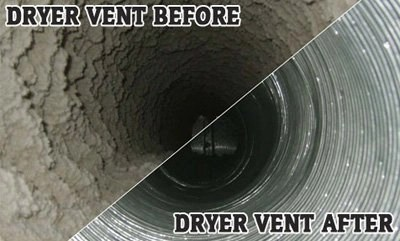 clean dryer vent pipe