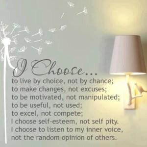I choose quote