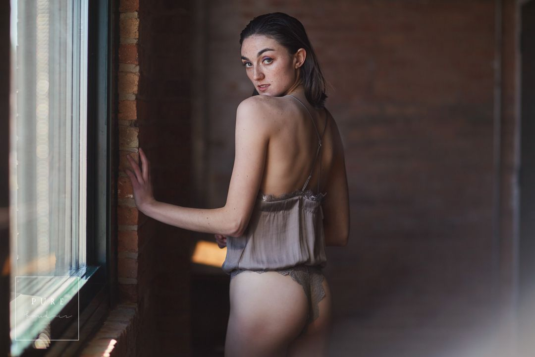 Chicago boudoir studio with natural light