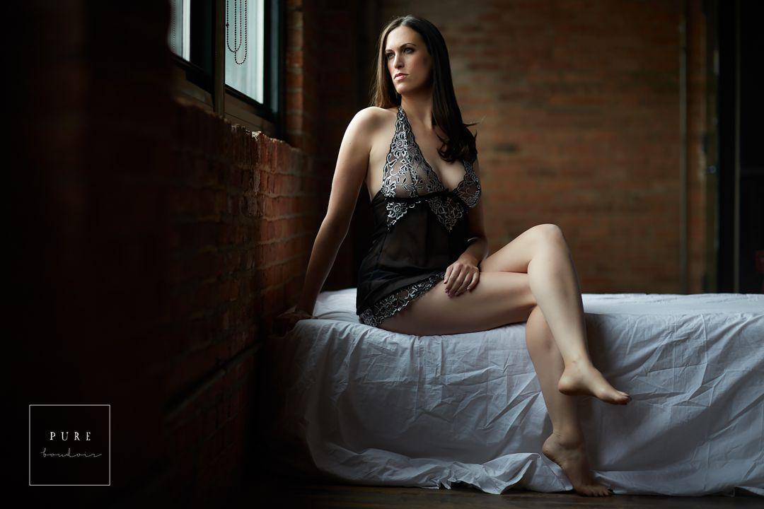 Chicago boudoir with breast cancer survivor