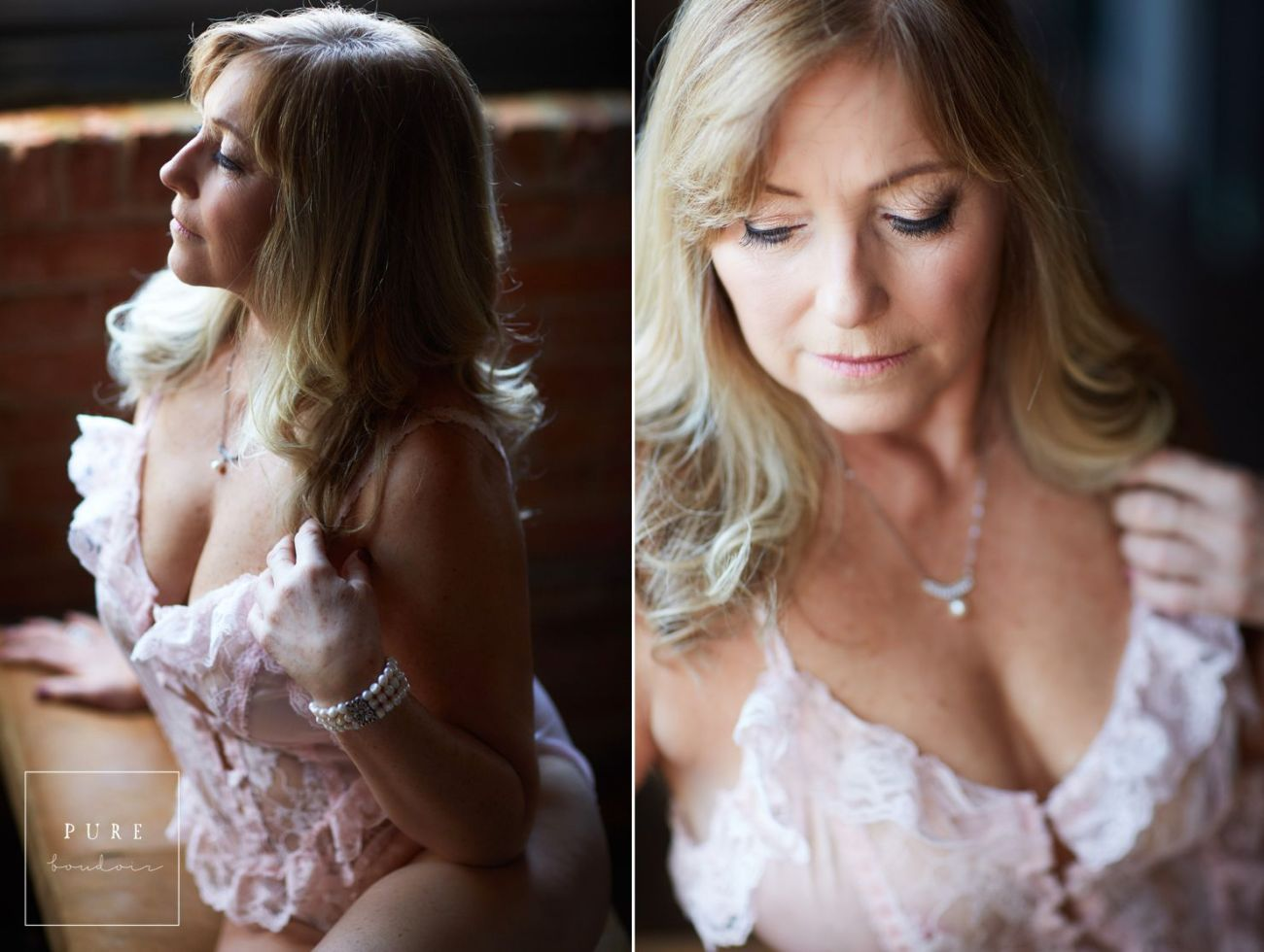 chicago natural light portrait photography - Middle Age Boudoir Session - Beautiful At Any Age.