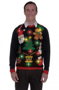 Everything Christmas Light Up Sweater Adult Costume