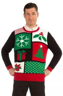Jolly Christmas Sweater Adult Costume