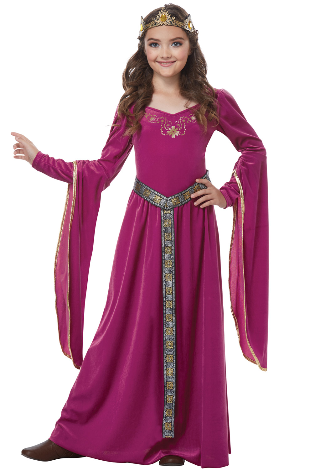 Blushing Medieval Princess Child Costume
