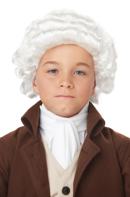 Child Colonial Man Wig White Purecostumes Com