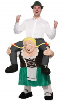 Oktoberfest Costumes   PureCostumes com Ride On Beer Maiden Adult Costume