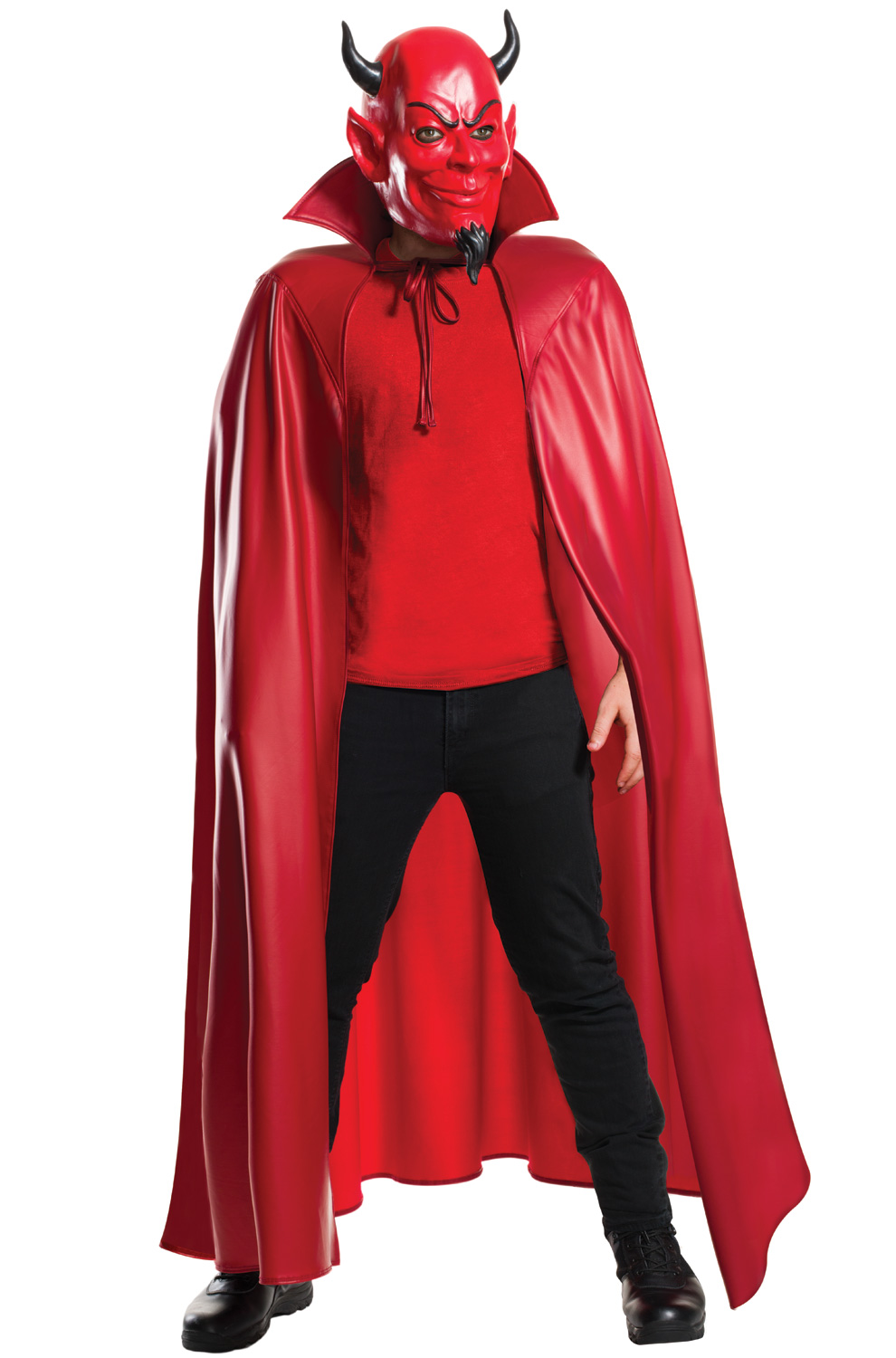 Deluxe Red Devil Mask And Cape Set Purecostumes Com
