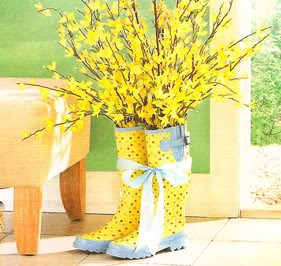 Rainboots Spring Decor