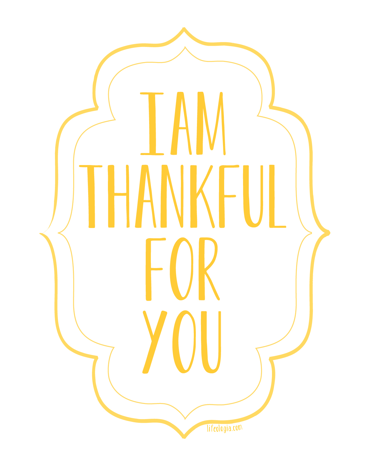 I Am Thankful For You Free Printable Posters