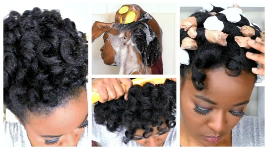Heatless Broke Girl Curls : 4c Natural Hair Hack w/ Grocery Bags ( Video Tutorial)