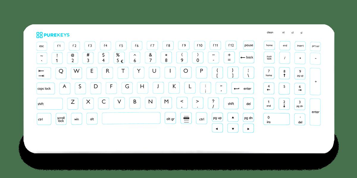 Compact Medisch Toetsenbord Purekeys
