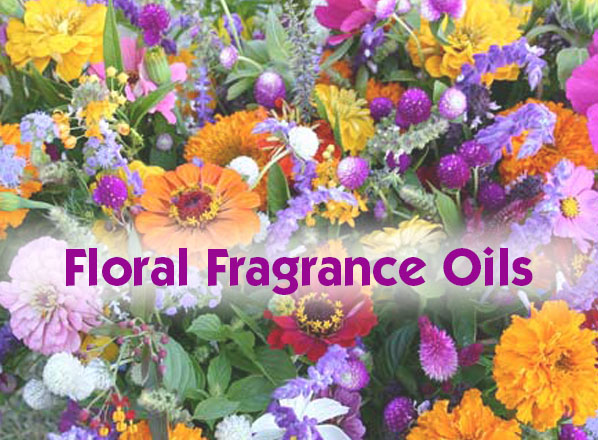 Floral fragrance oil selection