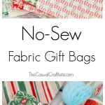 No Sew Fabric Gift Bags