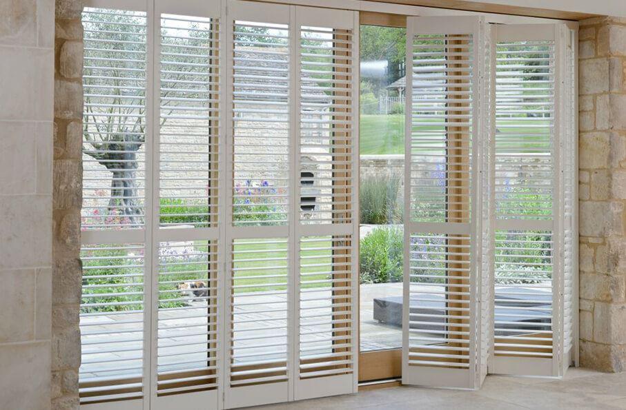 french patio door window shutters