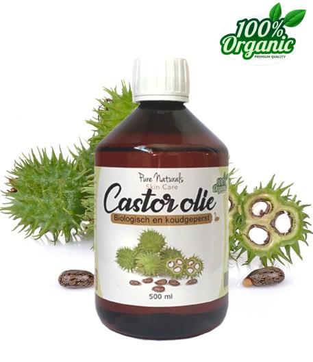 Castor olie biologisch puur groothandel haargroei wimpergroei
