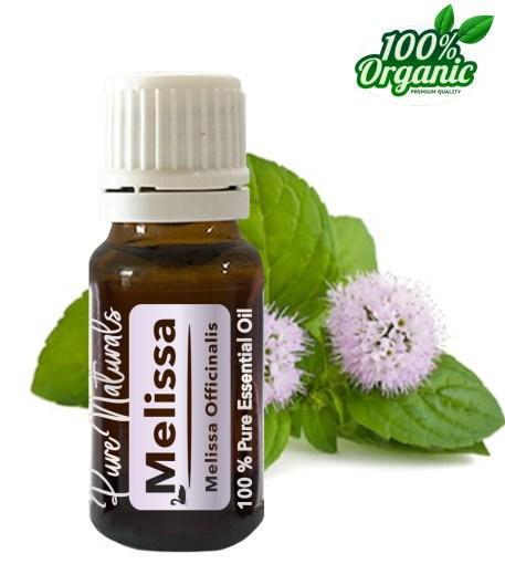 Melissa essentiële olie - organic - biologisch - pure naturals