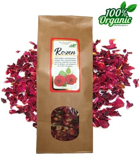 gedroogde rozen blaadjes kruiden thee