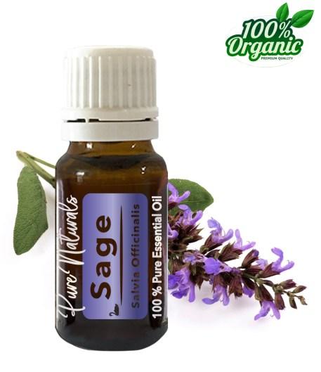 Salie sage essentiële olie - organic - biologisch - pure naturals