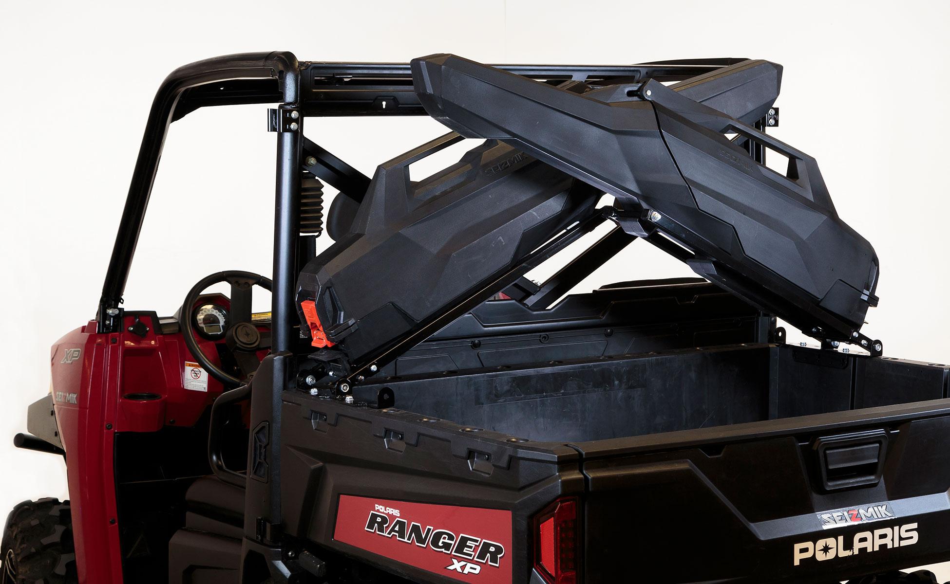 seizmik armory gun rack and gun case system for polaris ranger full size