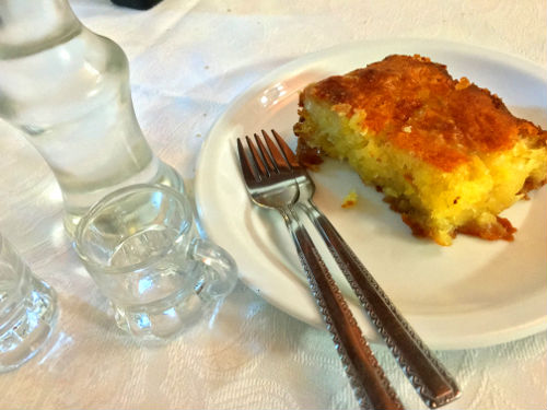 dessert with raki
