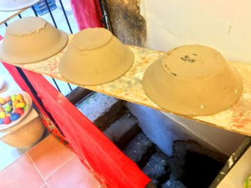 freshly made pottery