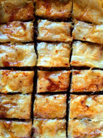 homemade baklava