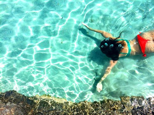 jessica swimming in Elafonissi
