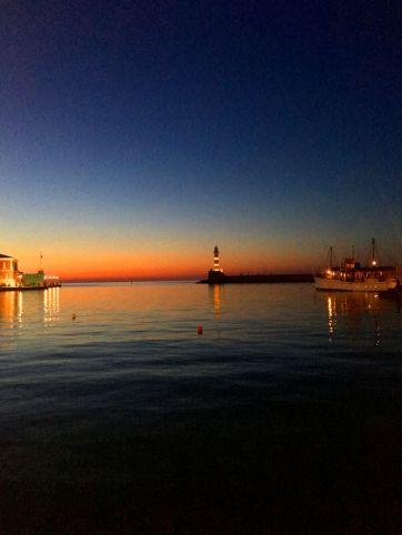 old venetian harbor sunset