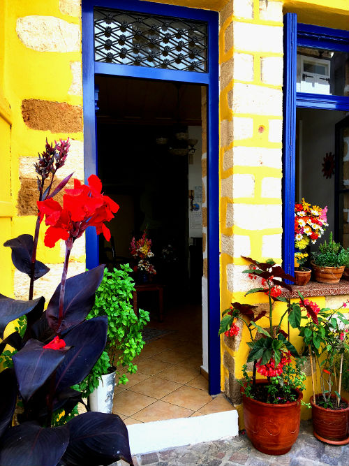 primary colors in chania, greece