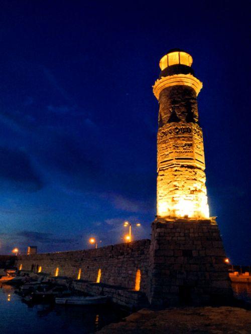 Venetian Lighthouse in Rethymno, Crete